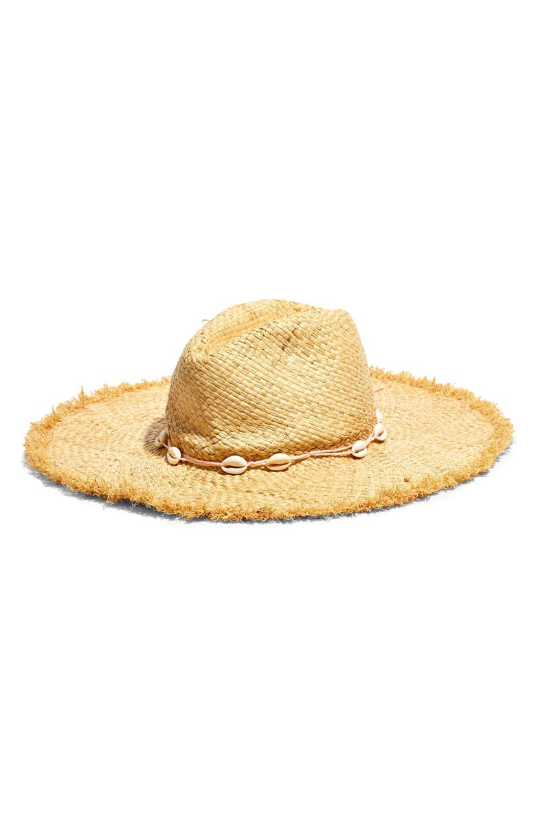 Madewell X Biltmore Shell Trim Woven Straw Hat