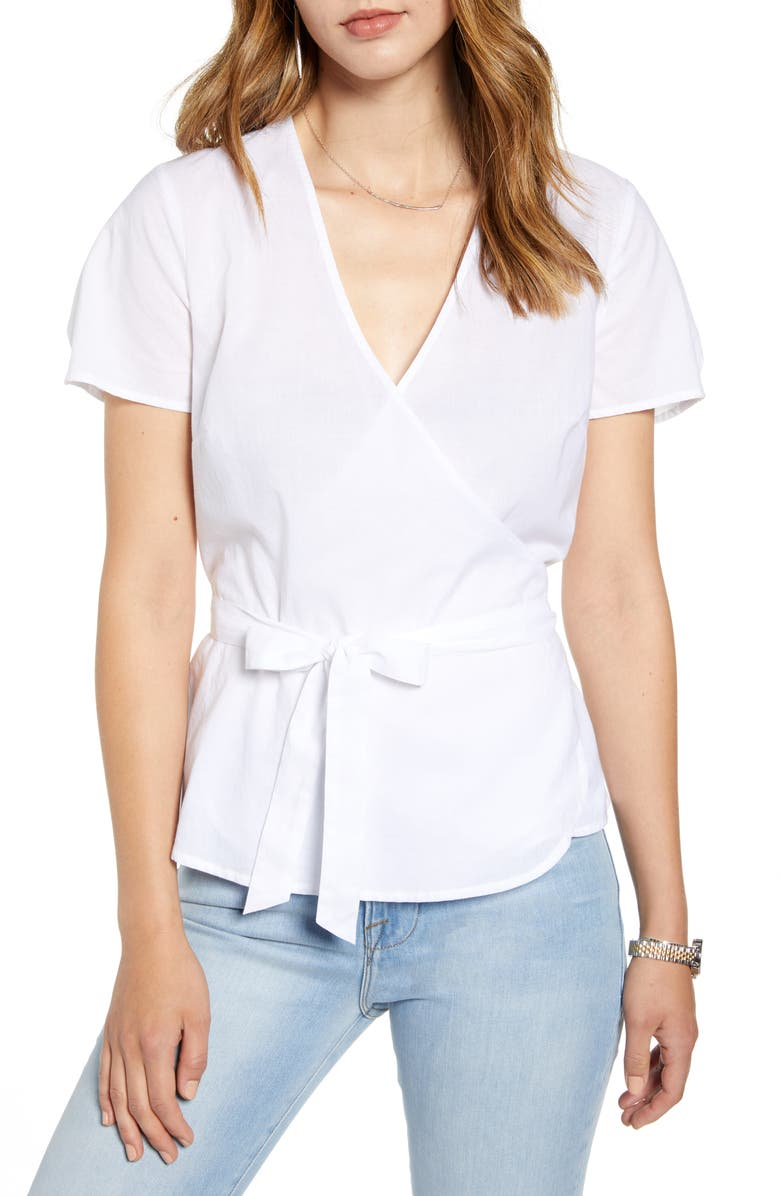 1901 Surplice Wrap Top, Main, color, 100
