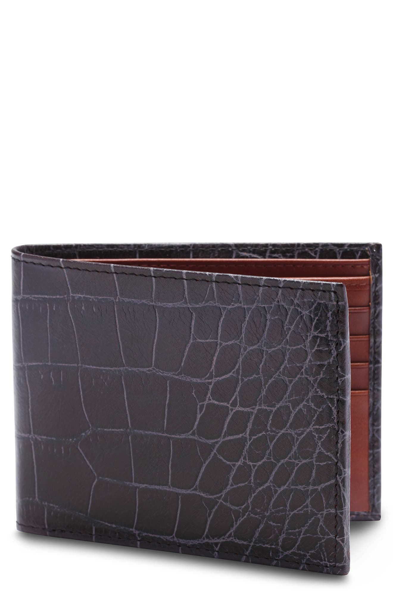 Croc Embossed Executive Leather Wallet