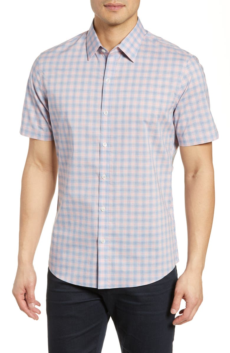 ZACHARY PRELL Koldabtsov Regular Fit Check Sport Shirt, Main, color, 650