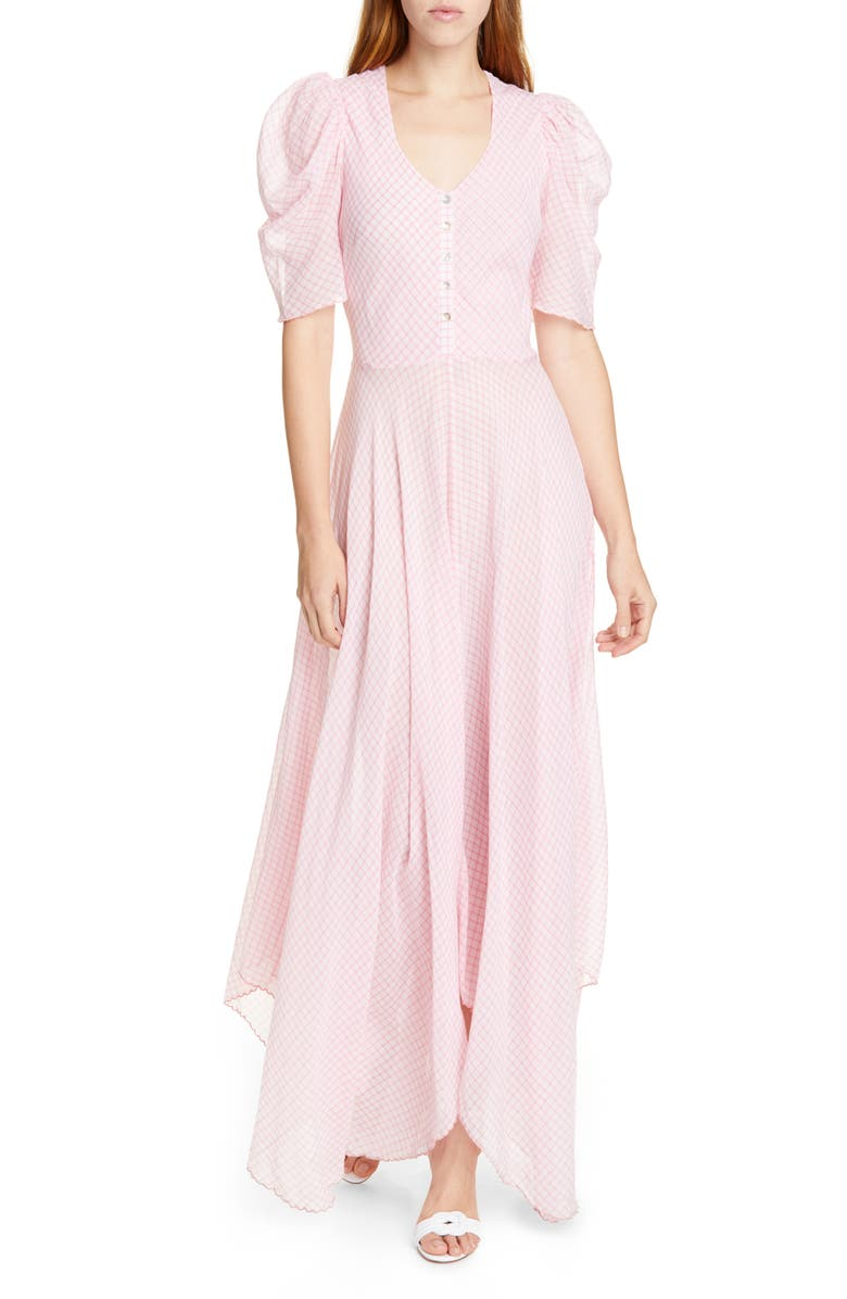 LOVESHACKFANCY Coralie Maxi Dress, Main, color, ENGLISH ROSE