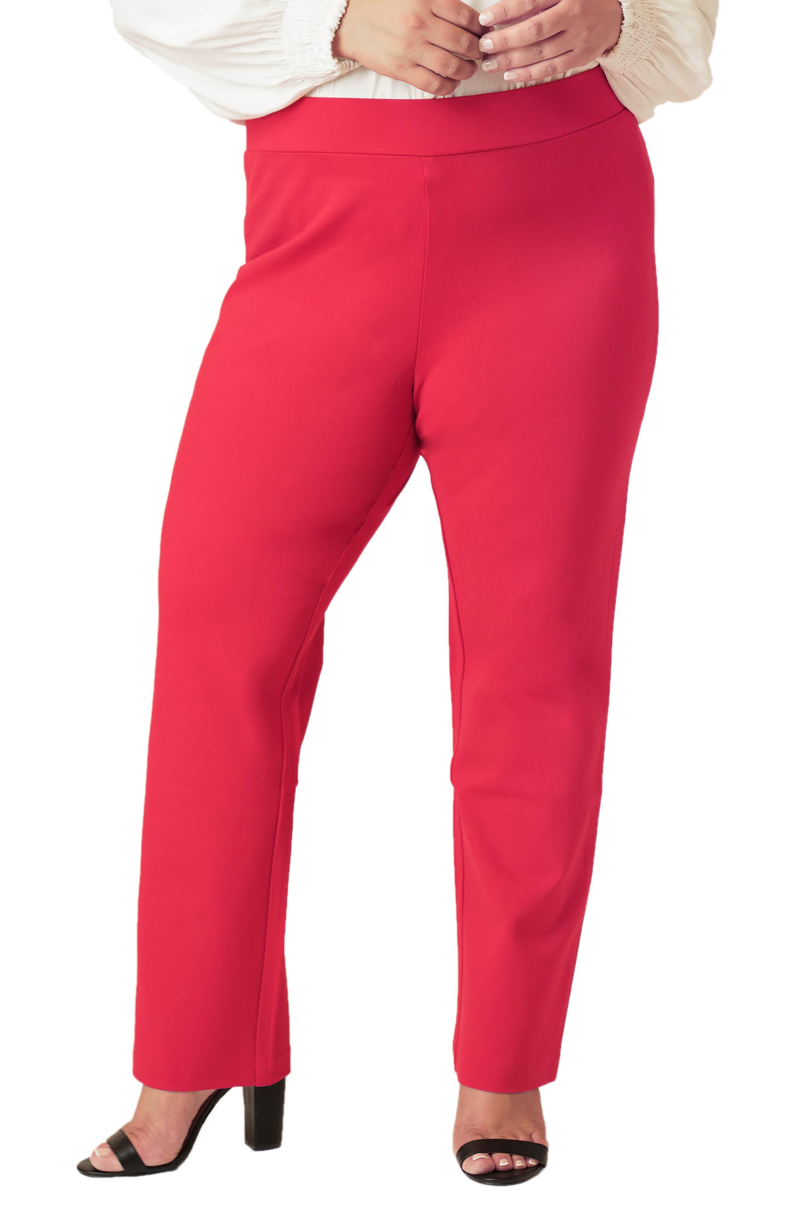 Straight Leg Compression Knit Pants