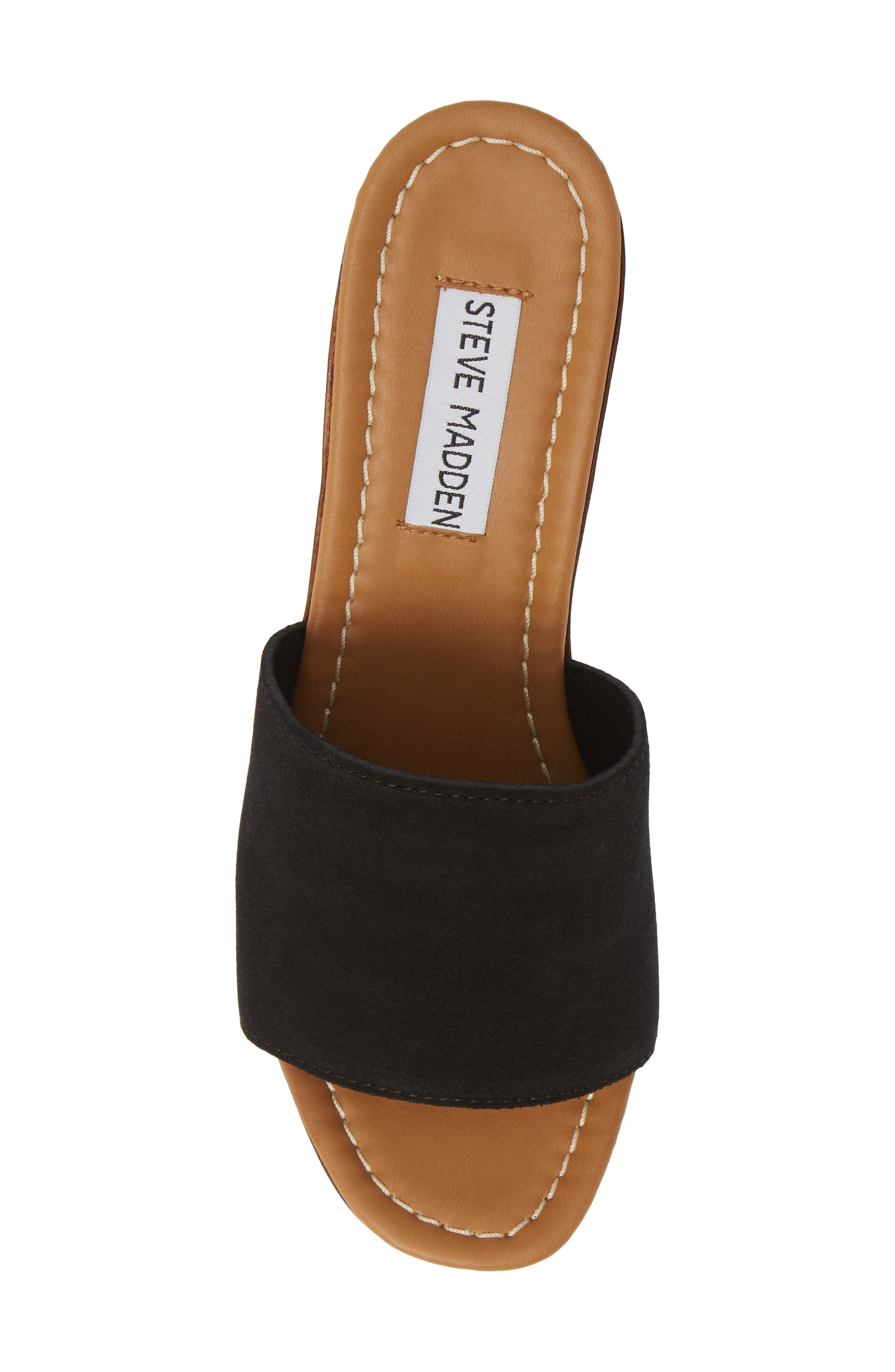 ,                             Fran Platform Slide Sandal,                             Alternate thumbnail 5, color,                             BLACK SUEDE