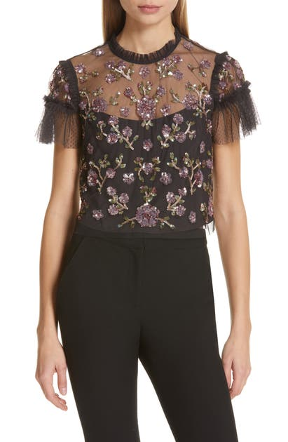Needle & Thread Tops CARNATION SEQUIN TOP
