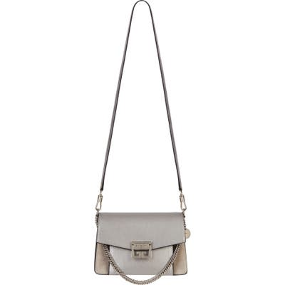 Givenchy Small Gv3 Leather & Suede Crossbody Bag - Metallic