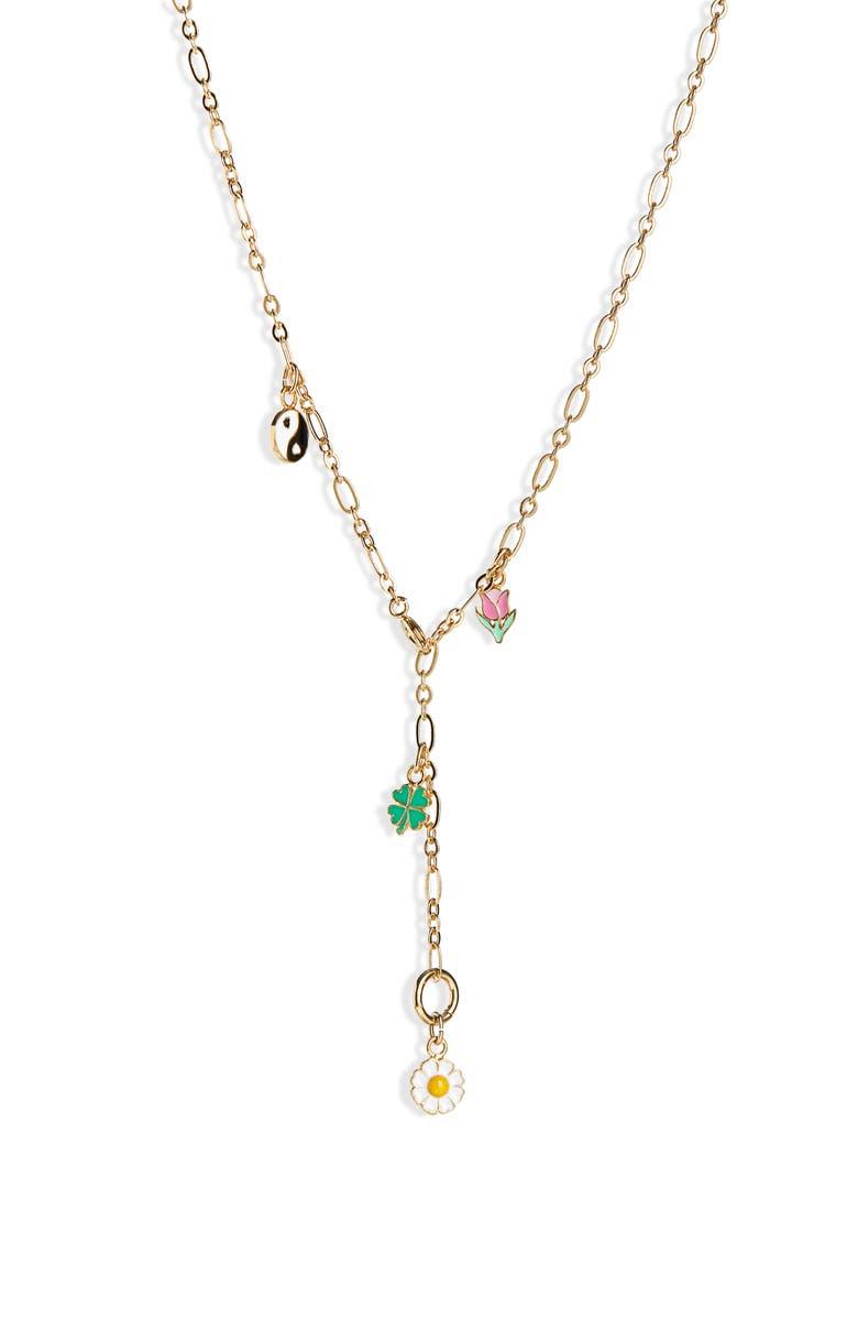 WILHELMINA GARCIA Charm Y-Necklace, Main, color, 710