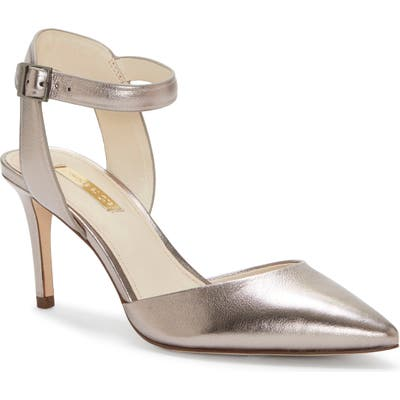 Louise Et Cie Kota Ankle Strap Pump, Metallic