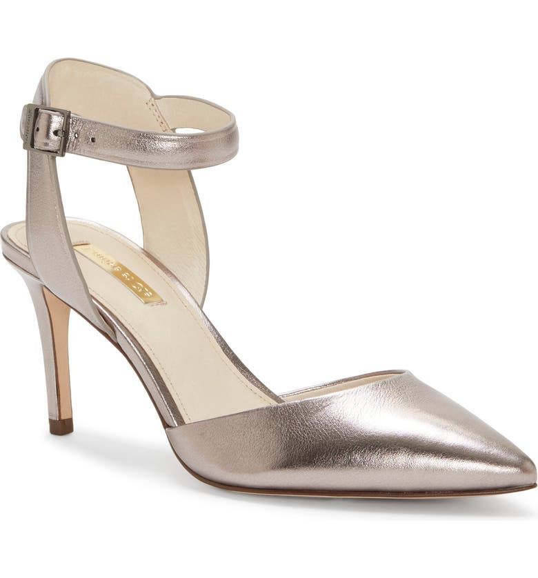 LOUISE ET CIE Kota Ankle Strap Pump, Main, color, PETROL METALLIC