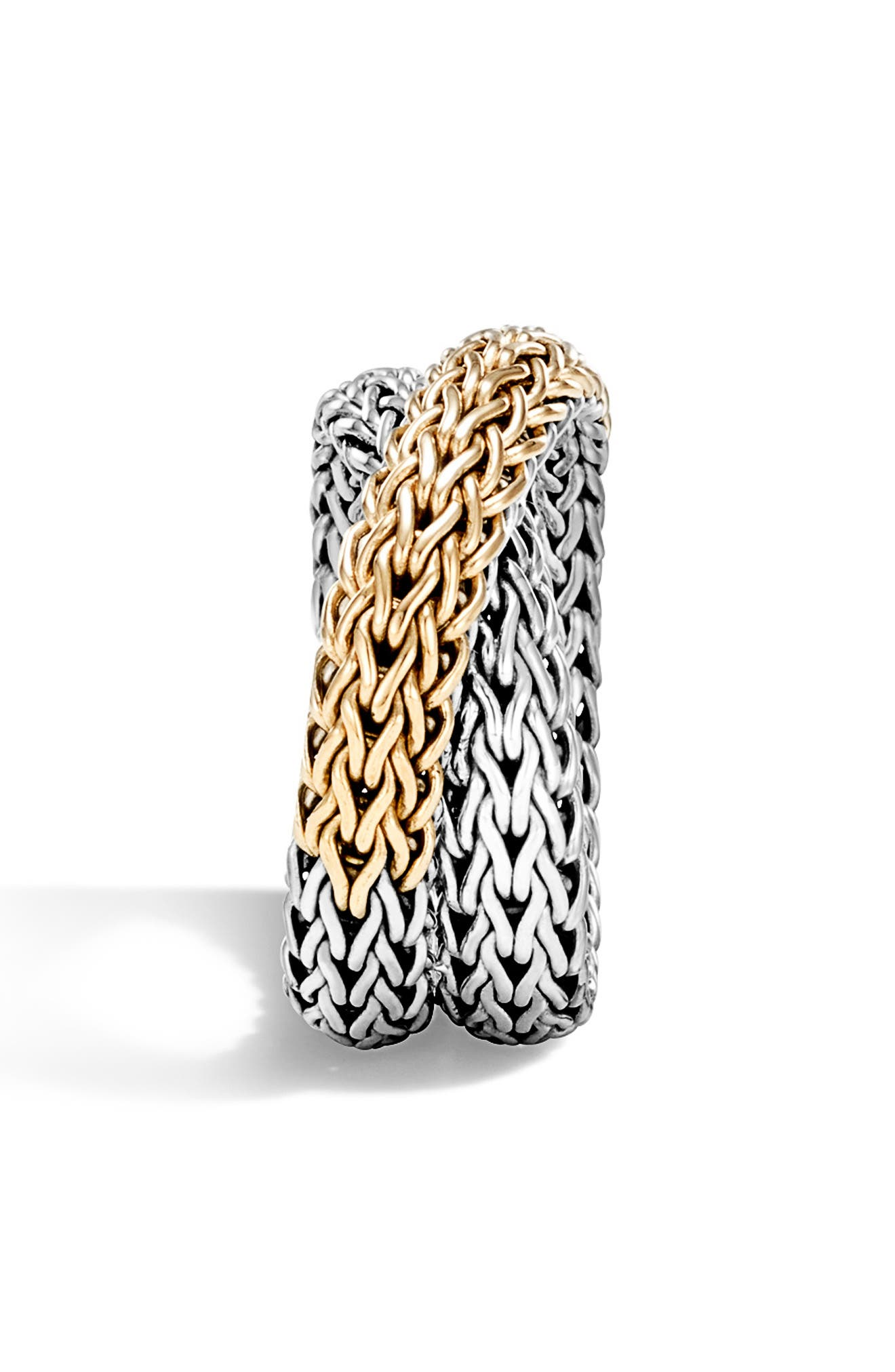 ,                             'Classic Chain' Overlap Ring,                             Alternate thumbnail 3, color,                             SILVER/ GOLD
