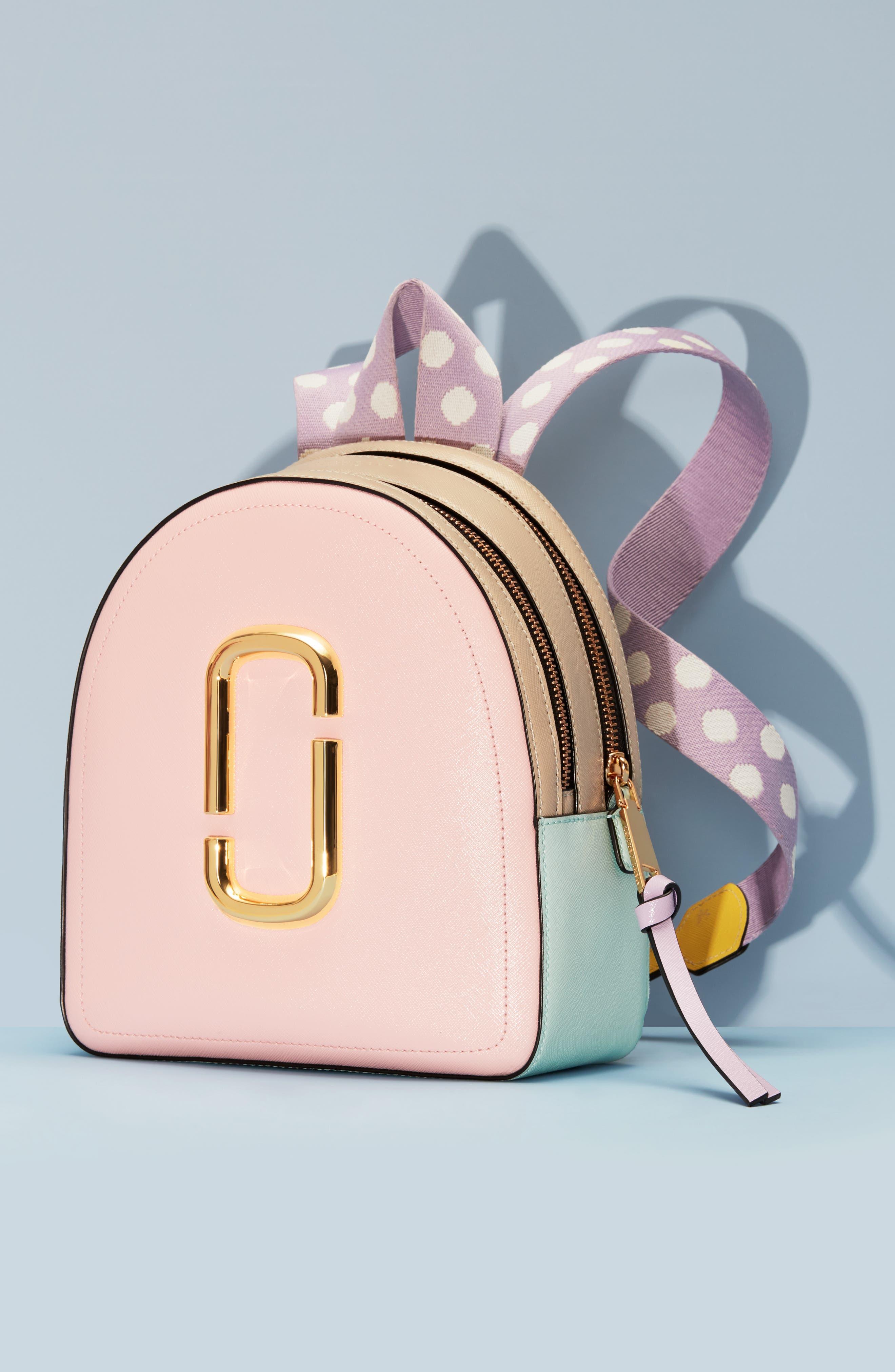 ,                             Pack Shot Leather Backpack,                             Alternate thumbnail 7, color,                             BLUSH MULTI