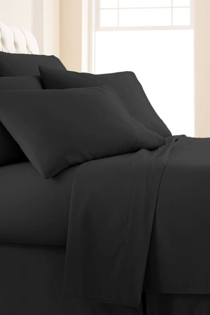 Image of SOUTHSHORE FINE LINENS Queen Sized Vilano Springs Extra Deep Pocket Sheet Set - Black