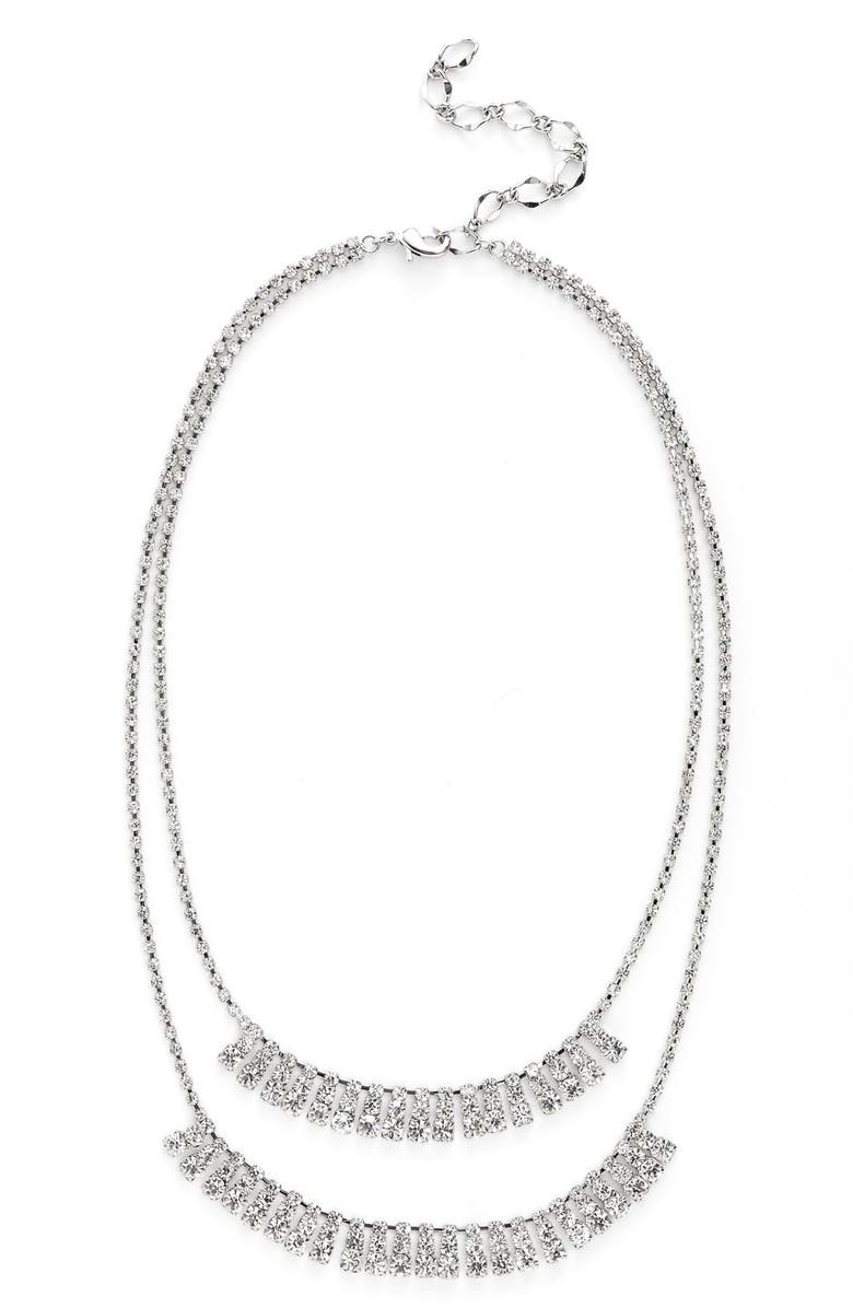 CRISTABELLE 'Waterfall' MultistrandNecklace, Main, color, 040