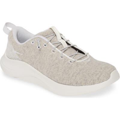 Hoka One One Hupana Flow Wool Slip-On Running Shoe- Grey