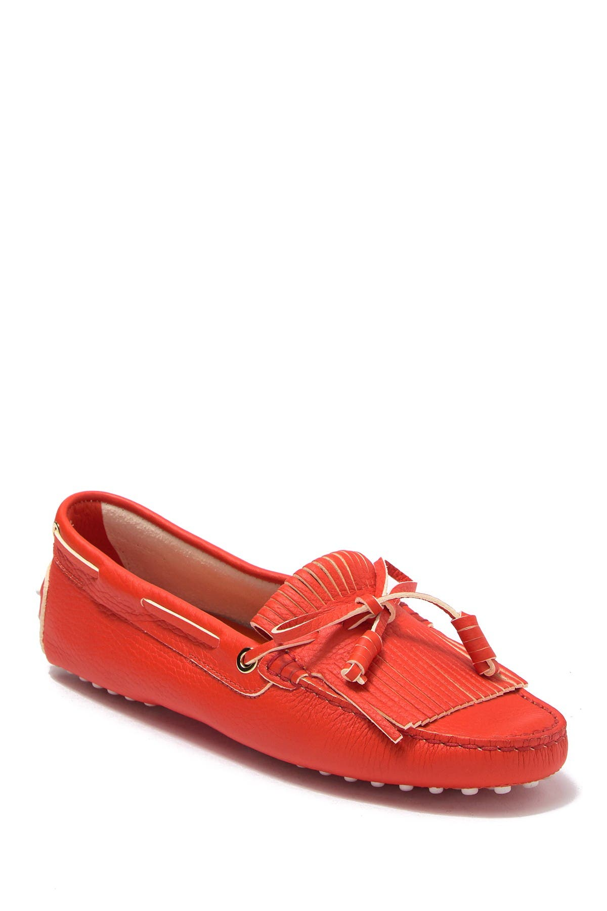 Image of Tod's Gommini Fringed Leather Driving Moccasin