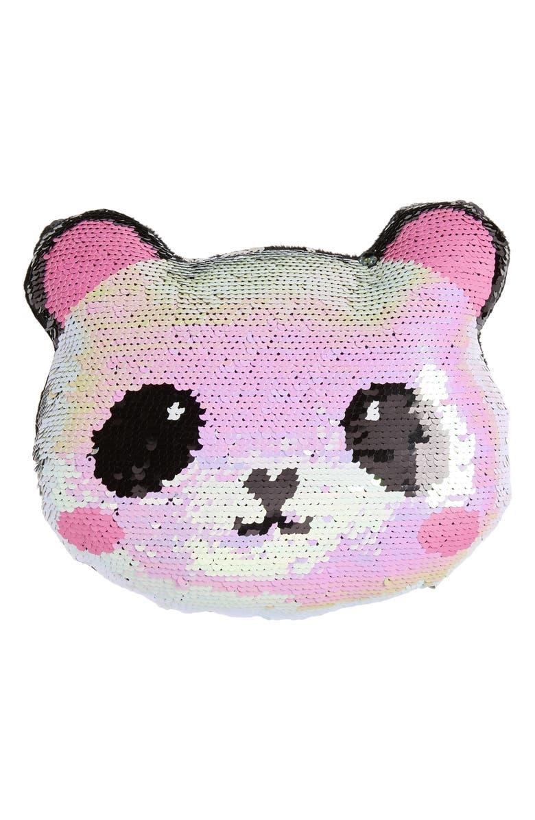 ISCREAM Mini Panda Flip Sequin Pillow, Main, color, MULTI