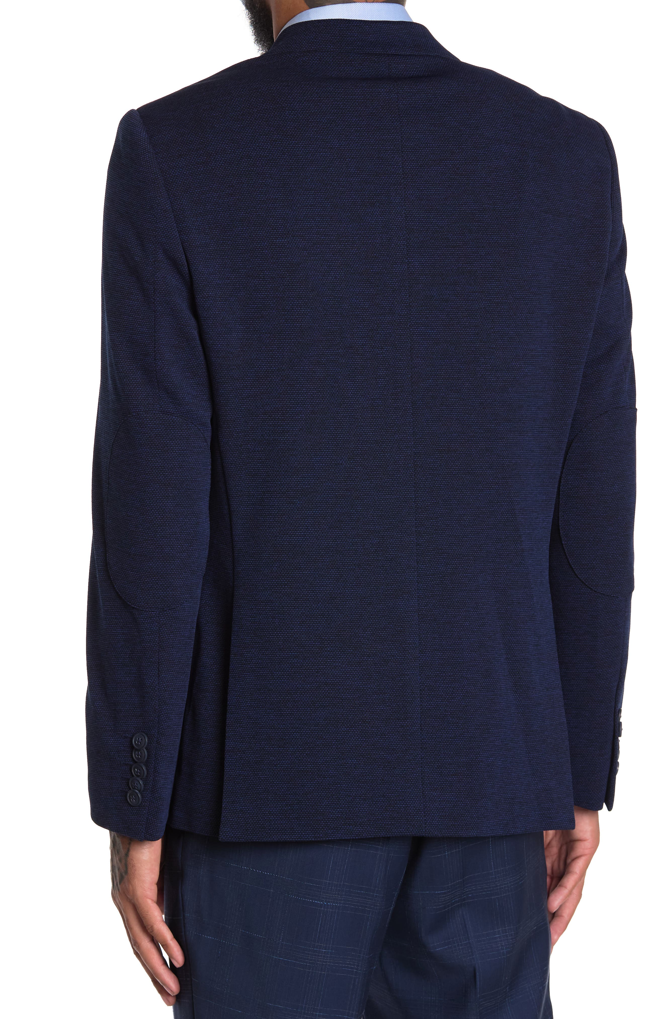 Image of SOUL OF LONDON Solid Knit Blazer