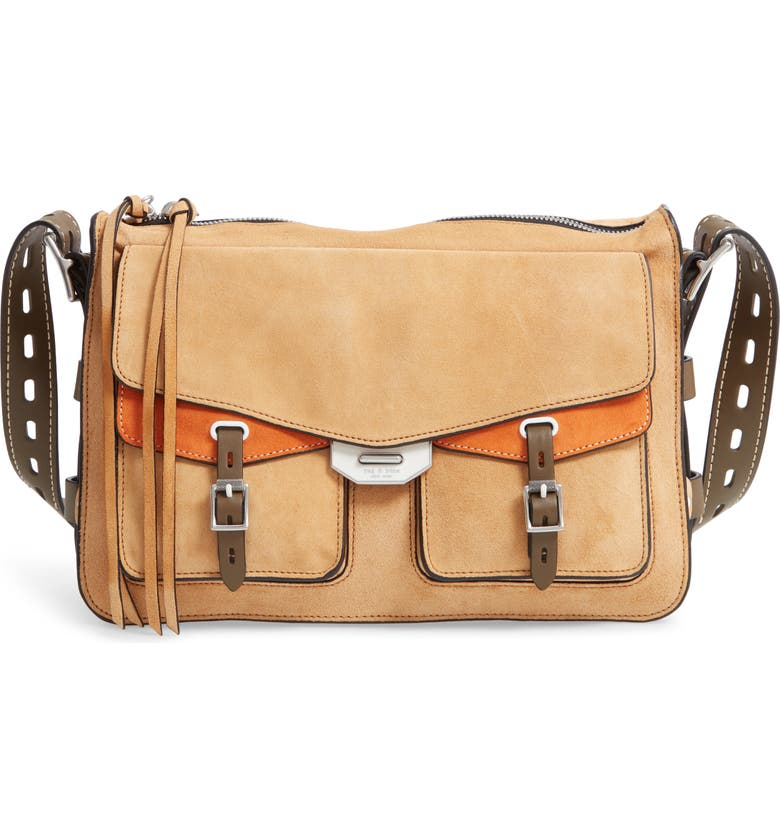 RAG & BONE Field Suede Messenger Bag, Main, color, ALMOND MULTI