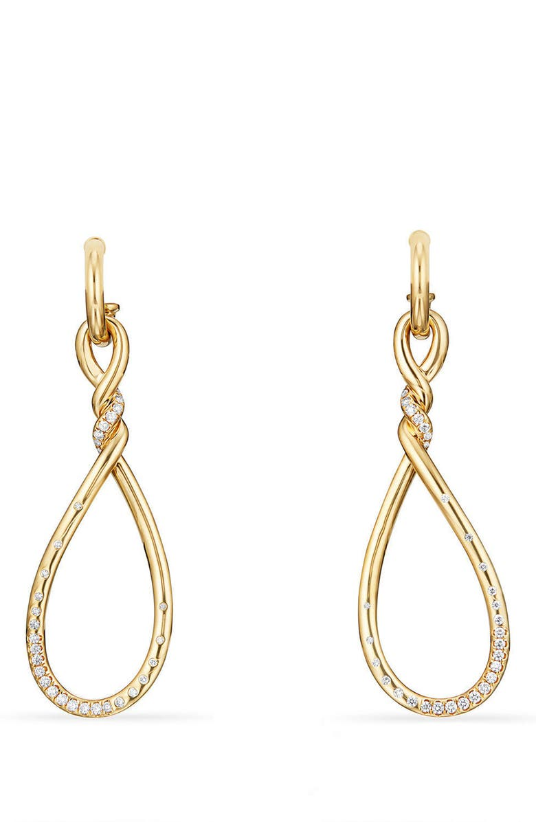 DAVID YURMAN Continuance Large Drop Earrings with Diamonds in 18K Gold, Main, color, YELLOW GOLD