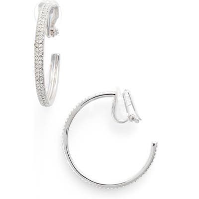 Nadri Clip-On Hoop Earrings