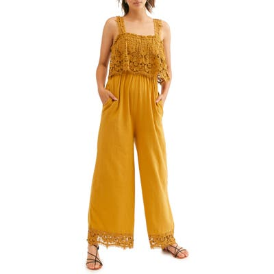 Endless Summer By Free People In Your Dreams Jumpsuit, Yellow
