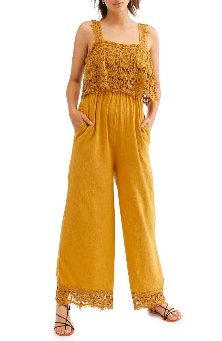 FREE PEOPLE Endless Summer by Free People In Your Dreams Jumpsuit, Main, color, HONEYSUCKLE