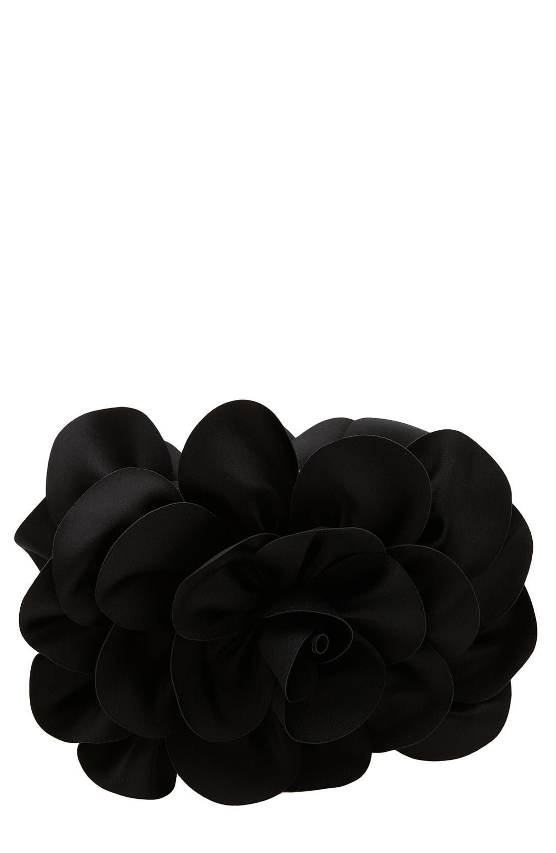 'Rose' Satin Box Clutch, Main, color, 001