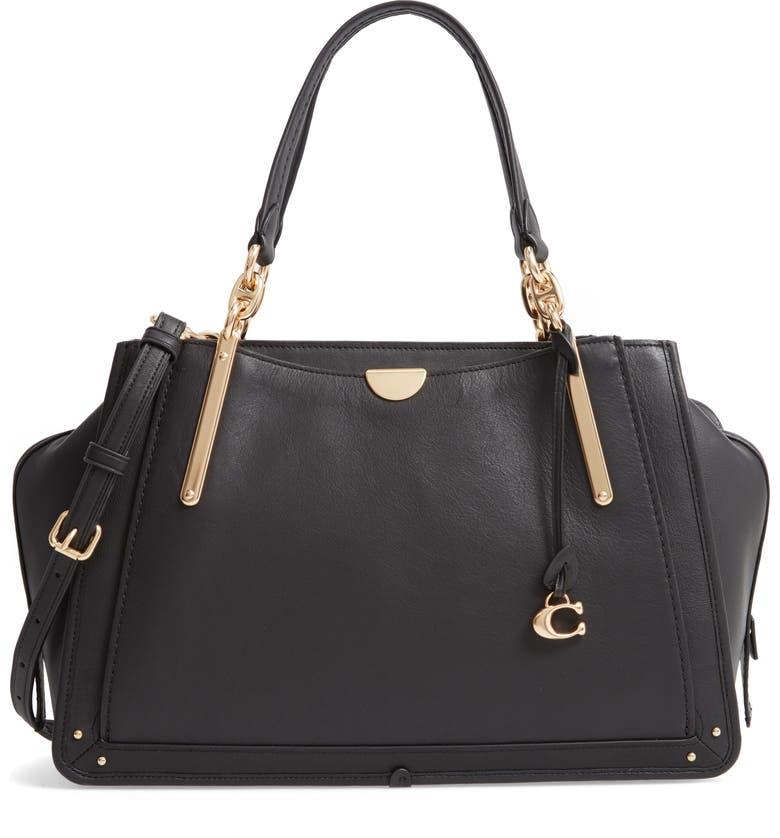 COACH Dreamer 36 Leather Bag, Main, color, 001
