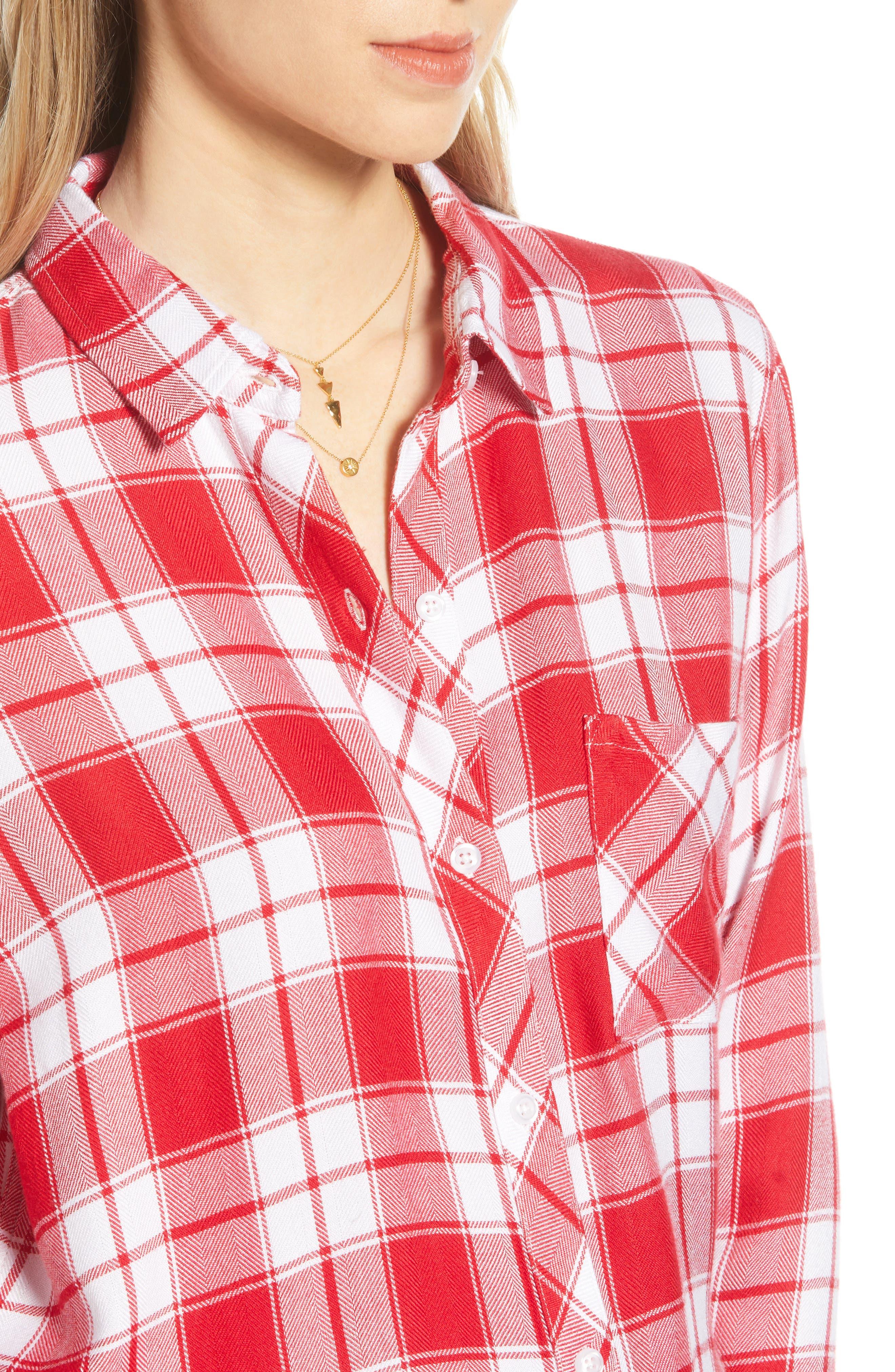 ,                             Hunter Plaid Shirt,                             Alternate thumbnail 183, color,                             609