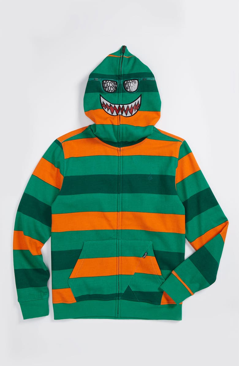 VOLCOM Rugby Stripe Mask Hoodie, Main, color, 300