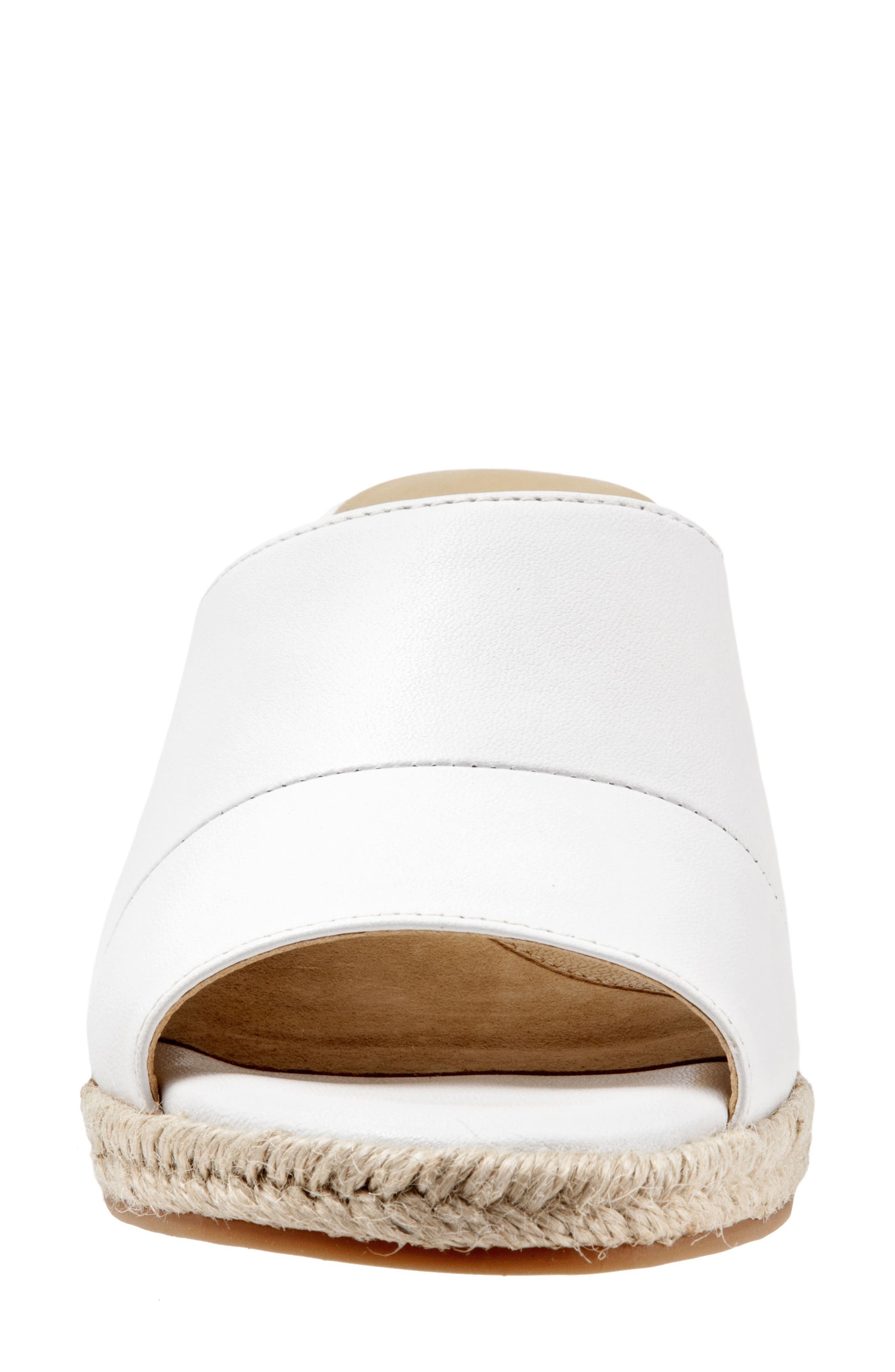,                             Colony Wedge Slide Sandal,                             Alternate thumbnail 4, color,                             WHITE LEATHER