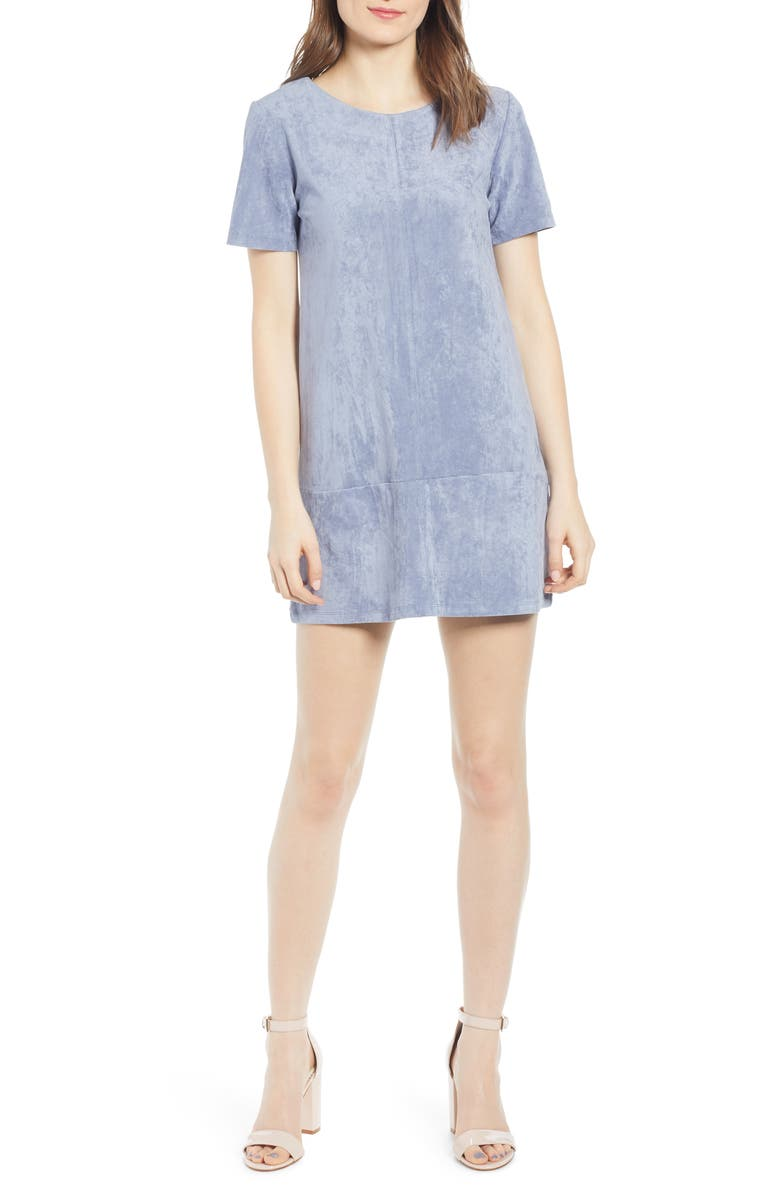 BISHOP + YOUNG Ivy Shift Dress, Main, color, TWILIGHT BLUE