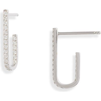 Bony Levy Bardot Small Diamond J-Hoop Earrings (Nordstrom Exclusive)