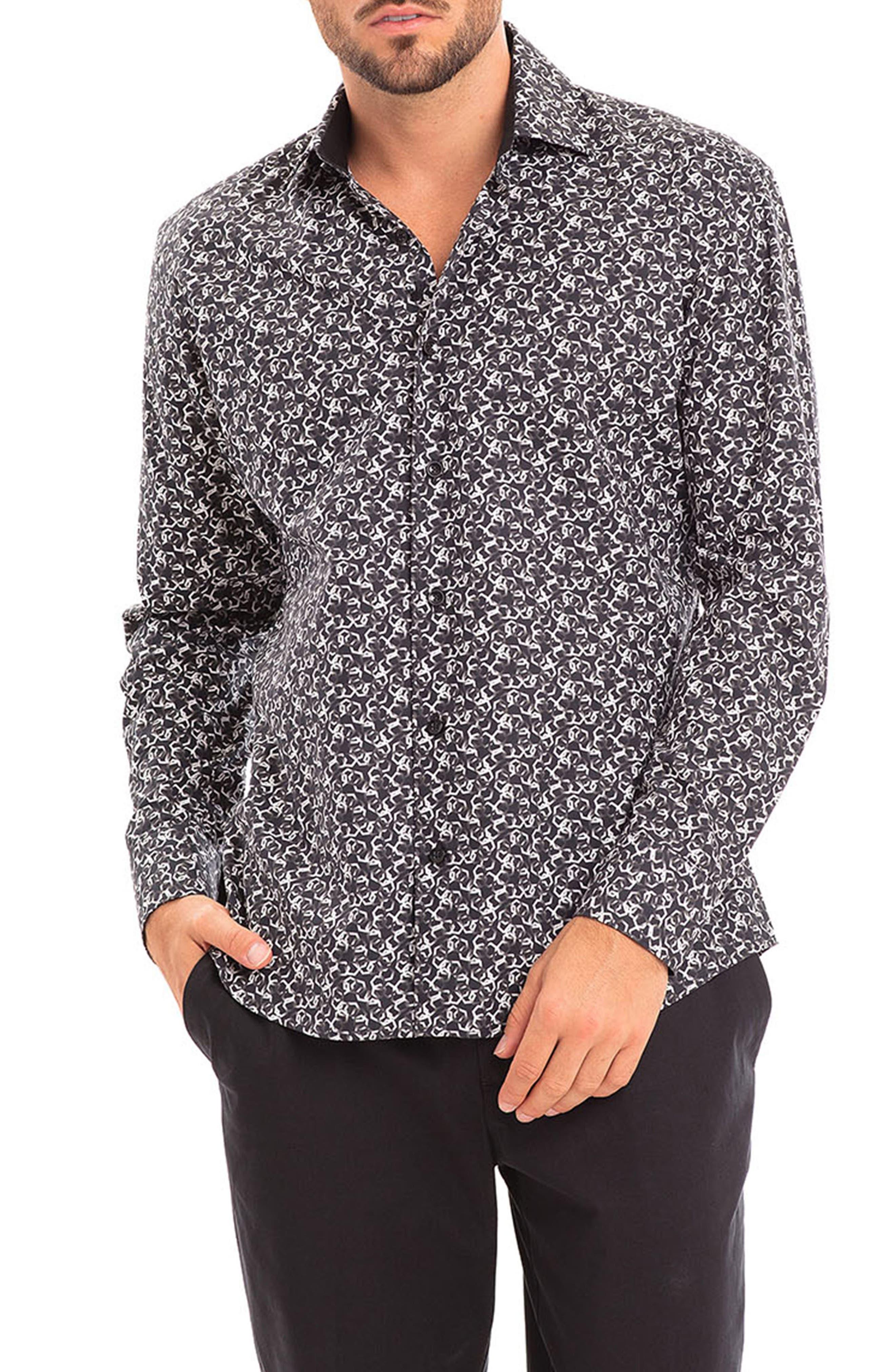 Titi Slim Fit Print Button-Up Shirt