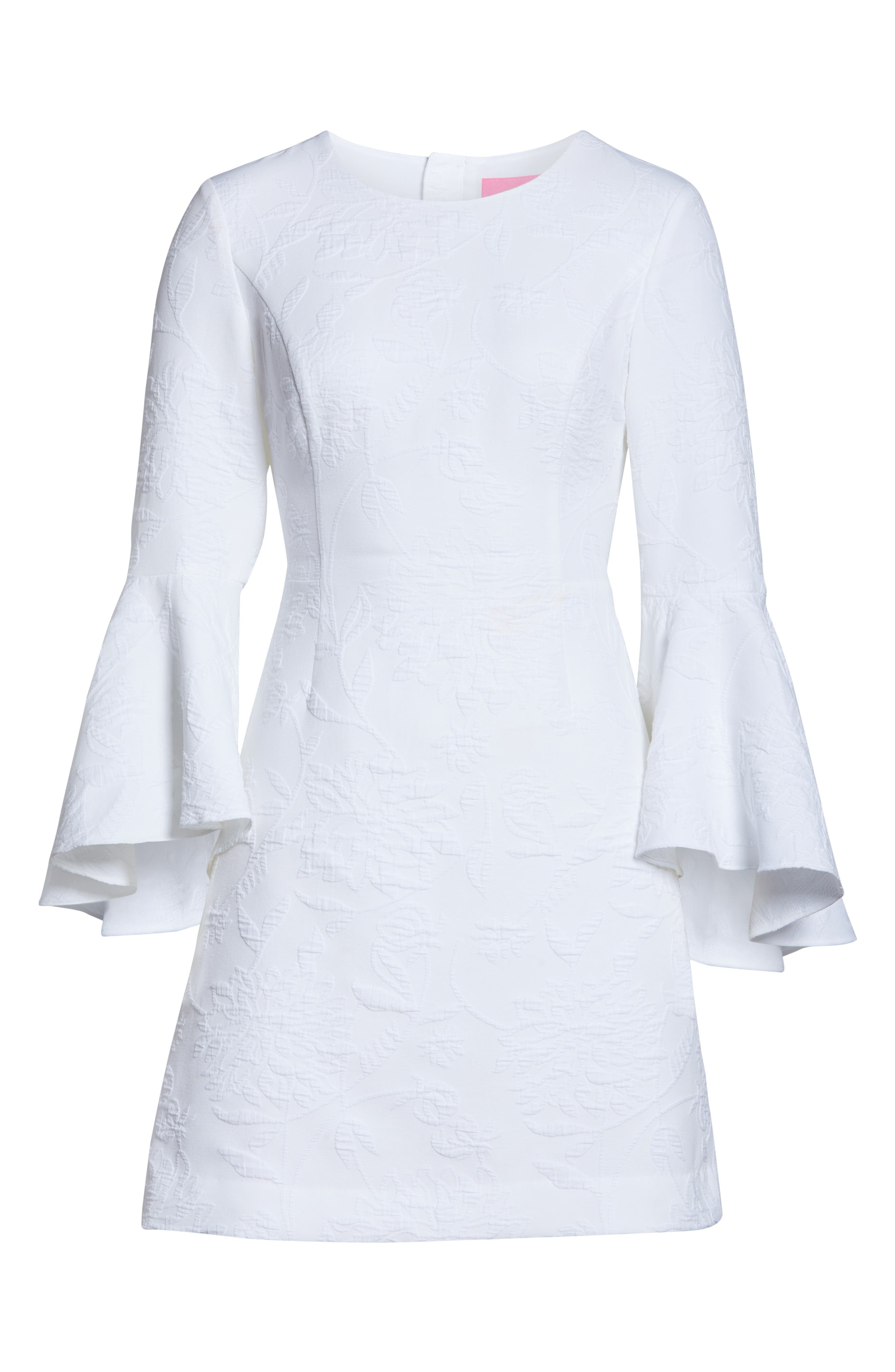 ,                             Kayla Bell Sleeve Dress,                             Alternate thumbnail 7, color,                             RESORT WHITE CALIENTE PUC