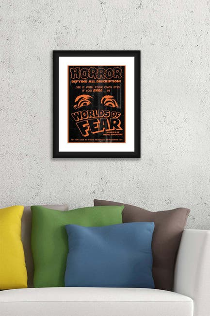Image of PTM Images Worlds of Fear Framed Matted Giclee Print