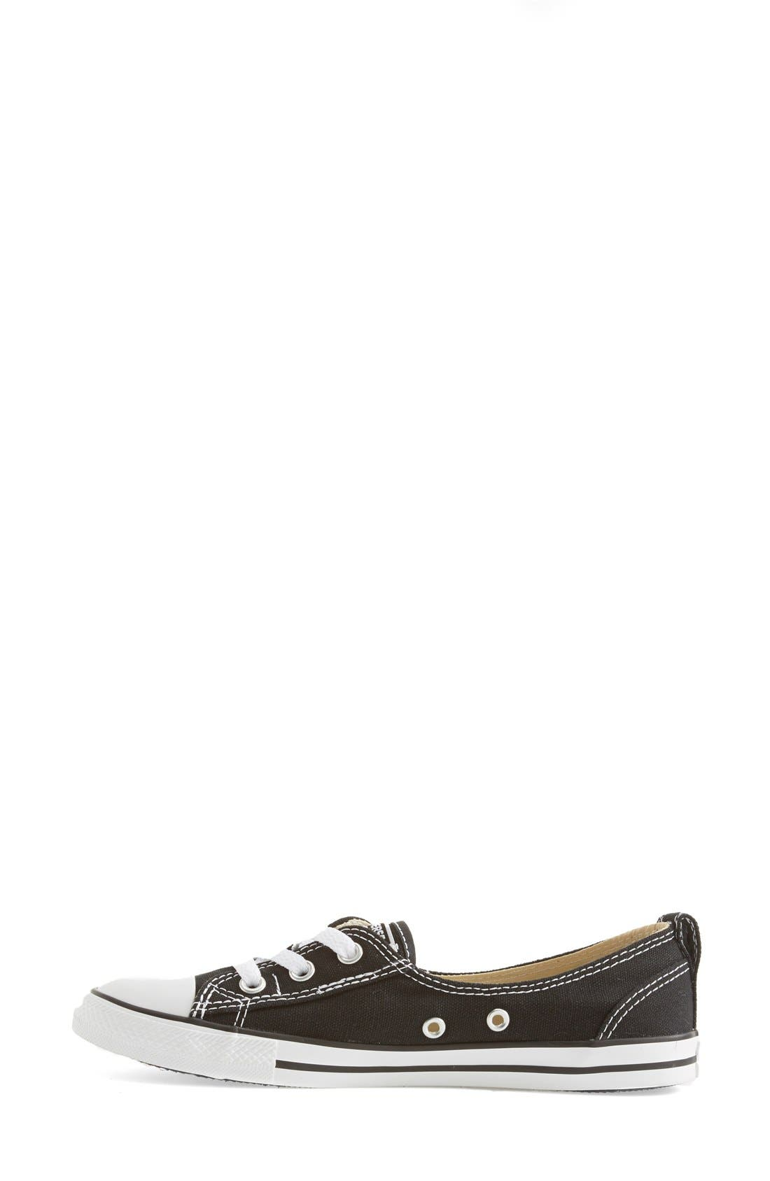 ,                             Chuck Taylor<sup>®</sup> All Star<sup>®</sup> Ballet Canvas Sneaker,                             Alternate thumbnail 4, color,                             001