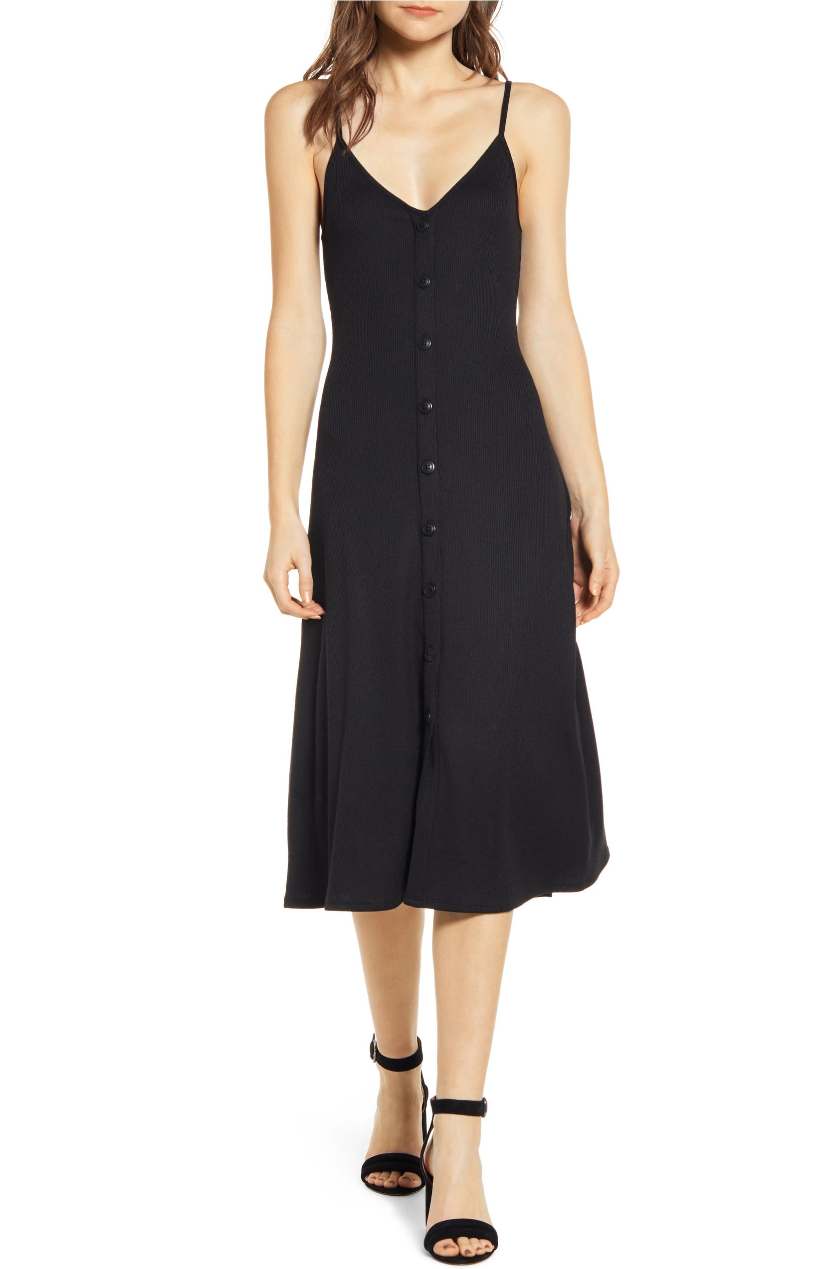 b4541c08fd7f1 Chelsea28 Ribbed Button Front Dress | Nordstrom