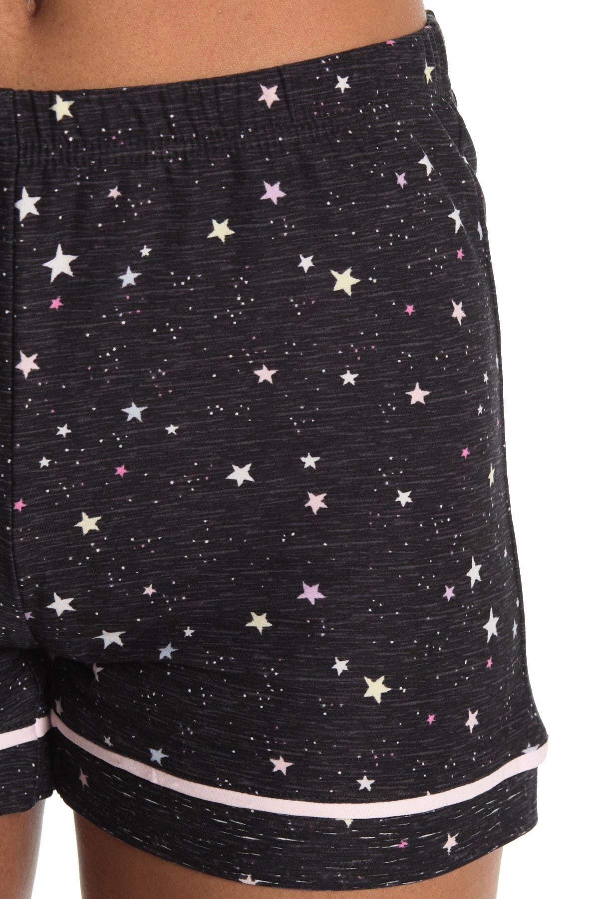 Jaclyn Yummy Printed Shirt & Shorts 2-Piece Pajama Set