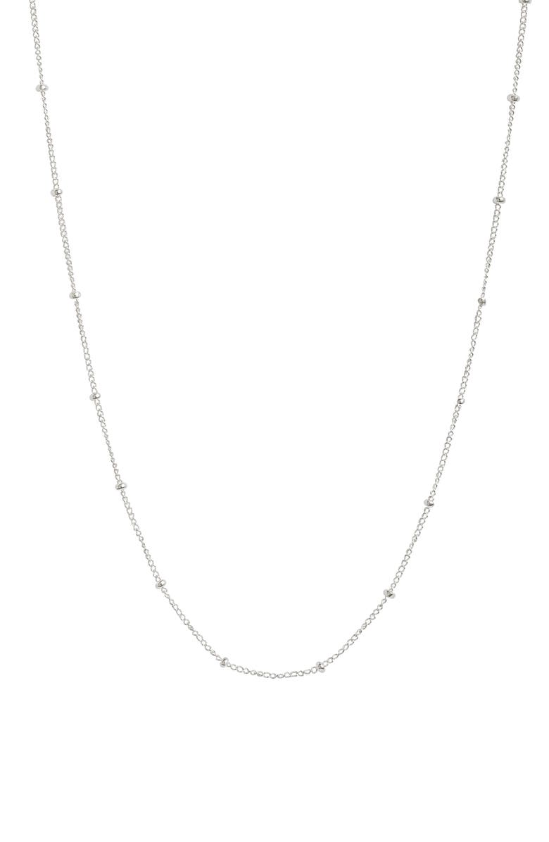 SET & STONES Aria Station Necklace, Main, color, SILVER