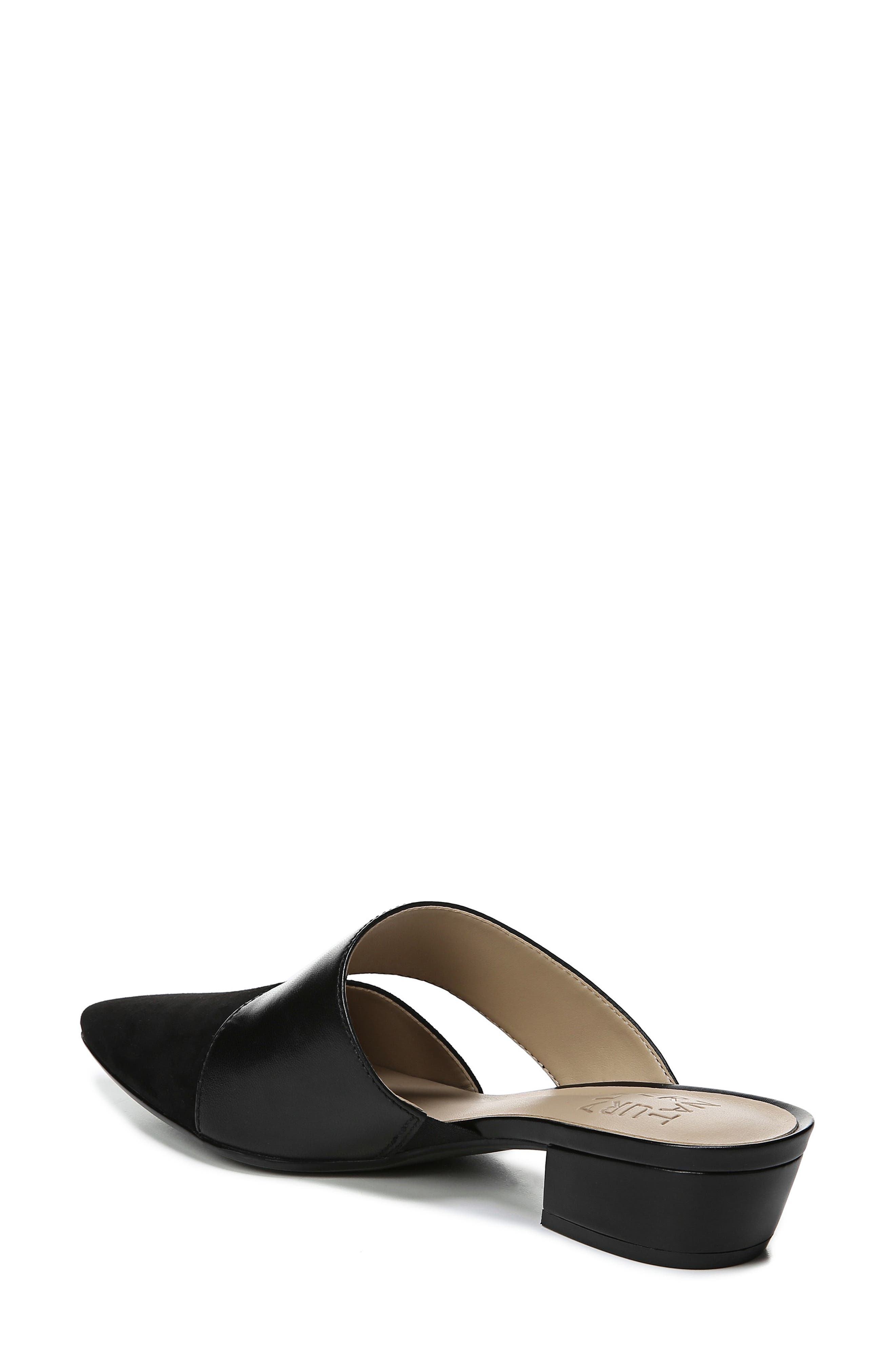 ,                             Bev Pointy Toe Mule,                             Alternate thumbnail 2, color,                             BLACK SUEDE/ LEATHER