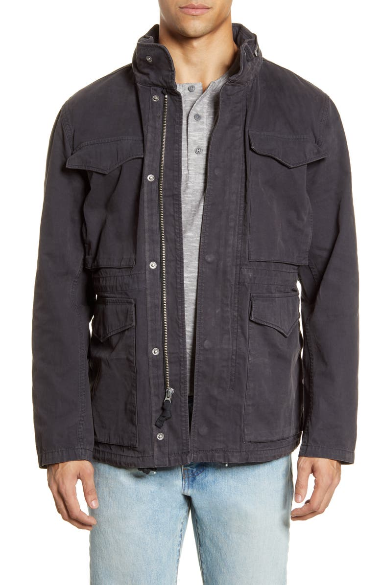 MADEWELL Slim Fit Field Jacket, Main, color, BLACK COAL