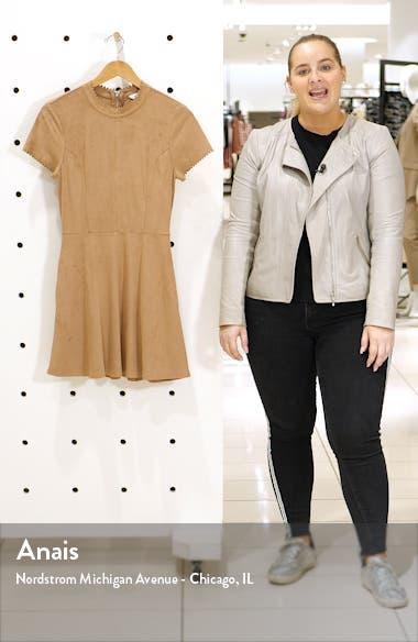Faux Suede Fit & Flare Dress, sales video thumbnail