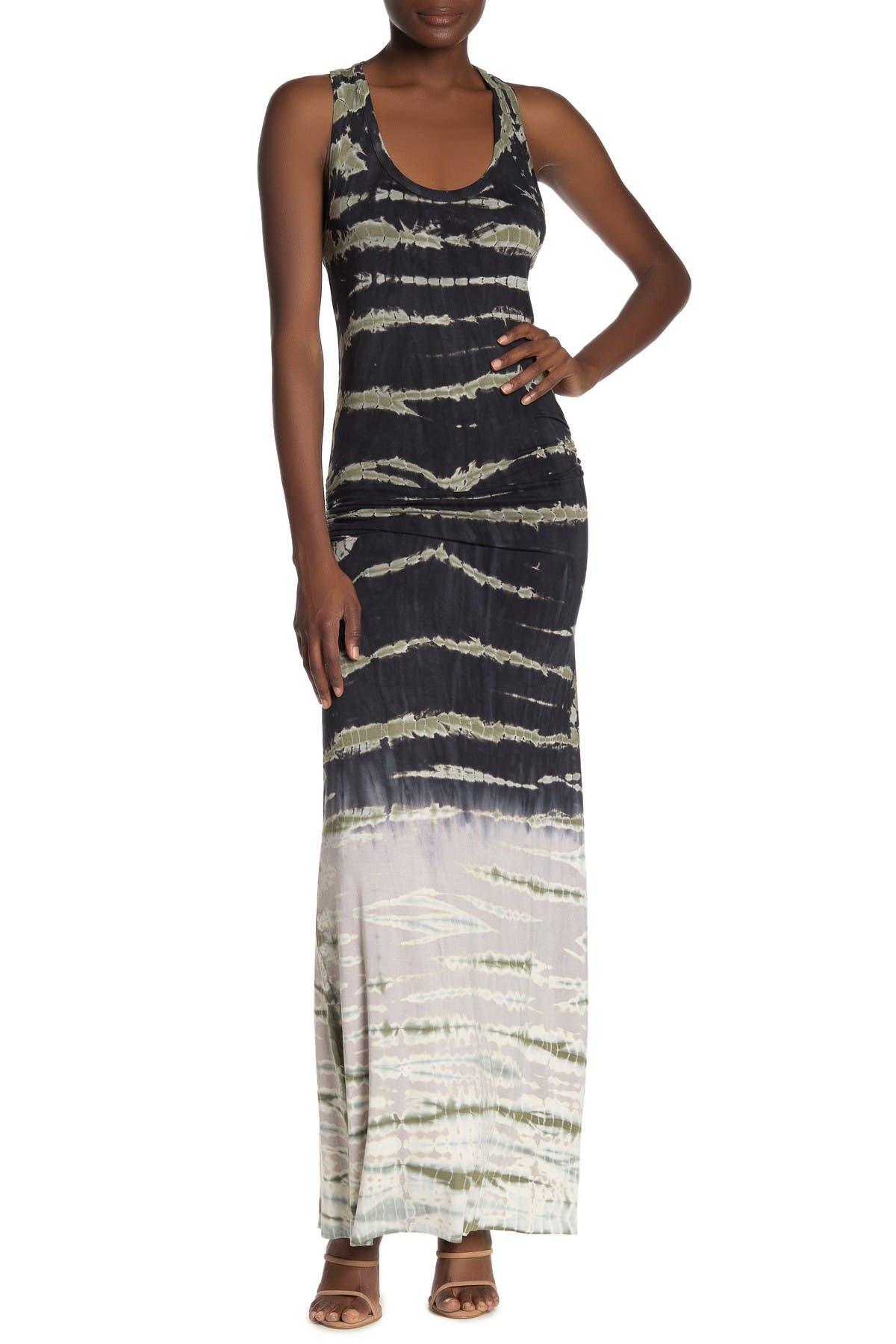Women V Neck Drape Ruched Waist Evening Party Dress Long Maxi Dress ILOE
