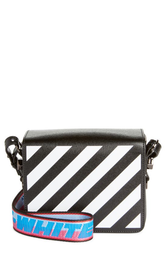 Off-White Leathers DIAGONAL STRIPE FLAP BAG
