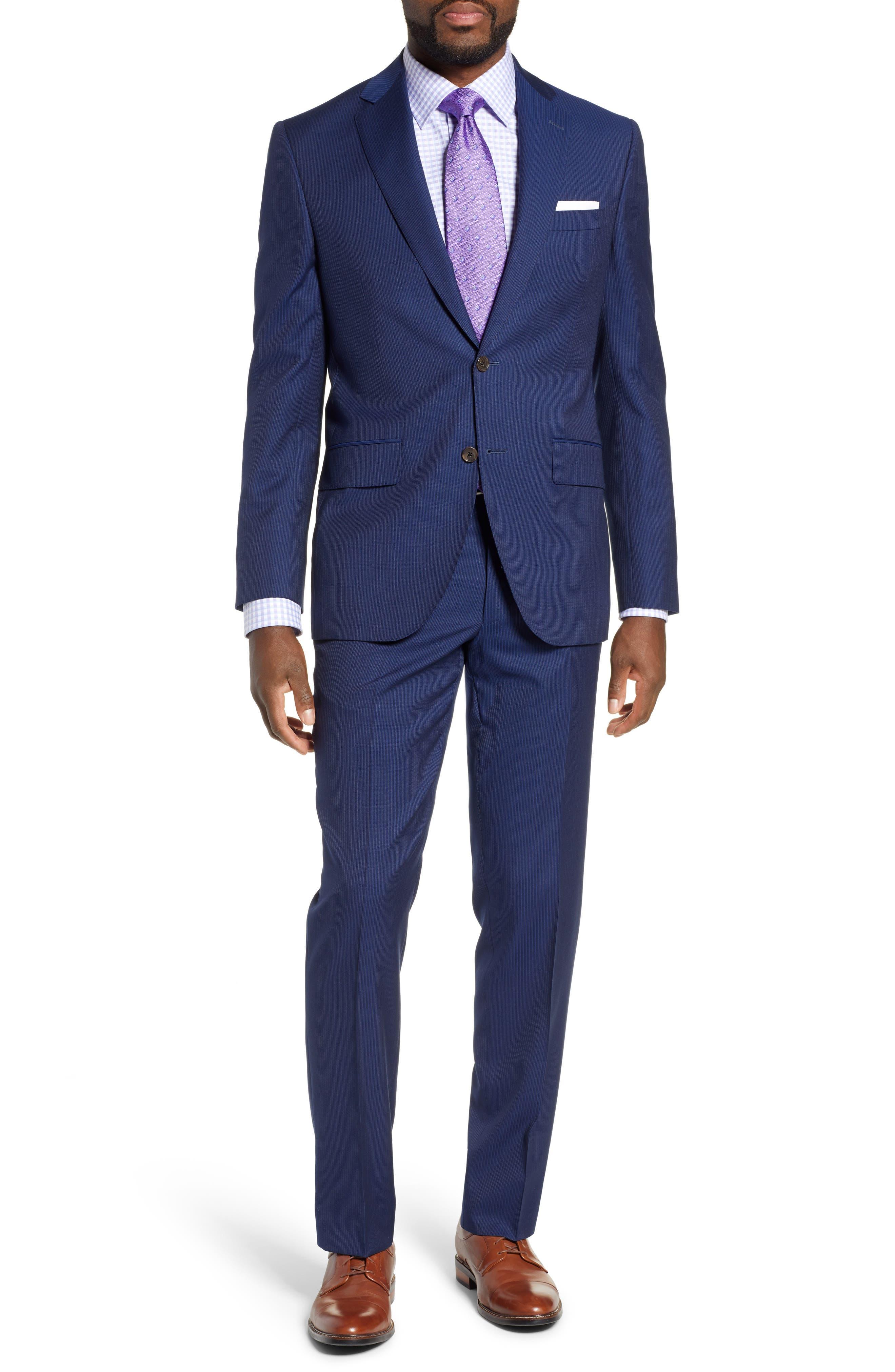 Ryan Classic Fit Stripe Wool Suit, Main, color, 410