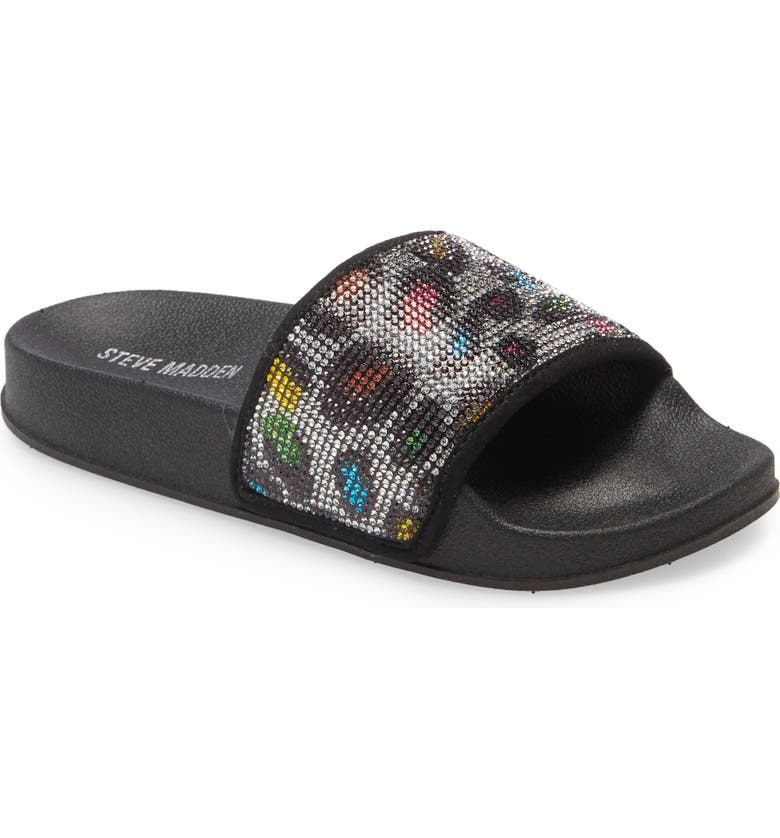 STEVE MADDEN JSammyy Slide Sandal, Main, color, MULTI LEOPARD
