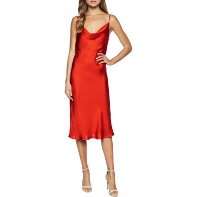 Bardot Cocktail Slipdress, Red