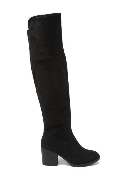 Image of Top Moda Over The Knee Block Heel Boot