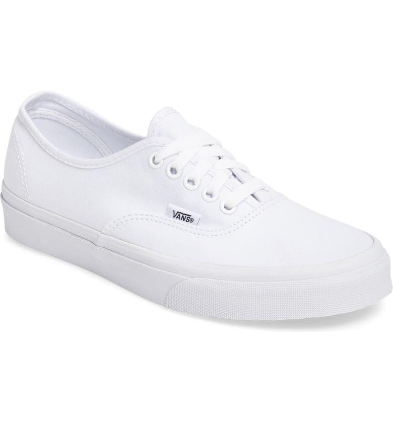VANS Authentic Sneaker, Main, color, TRUE WHTE