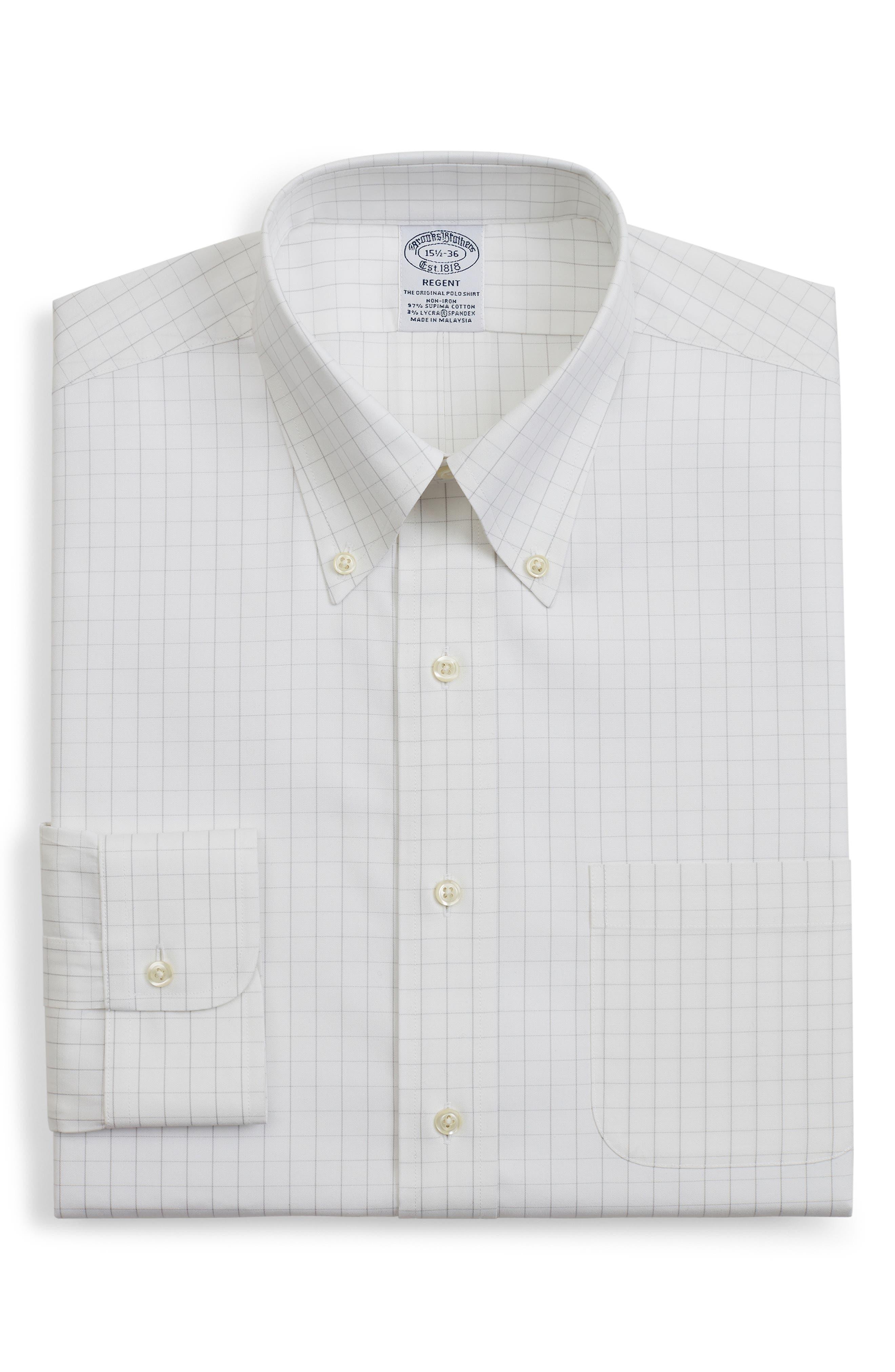 Regent Regular Fit Windowpane Dress Shirt